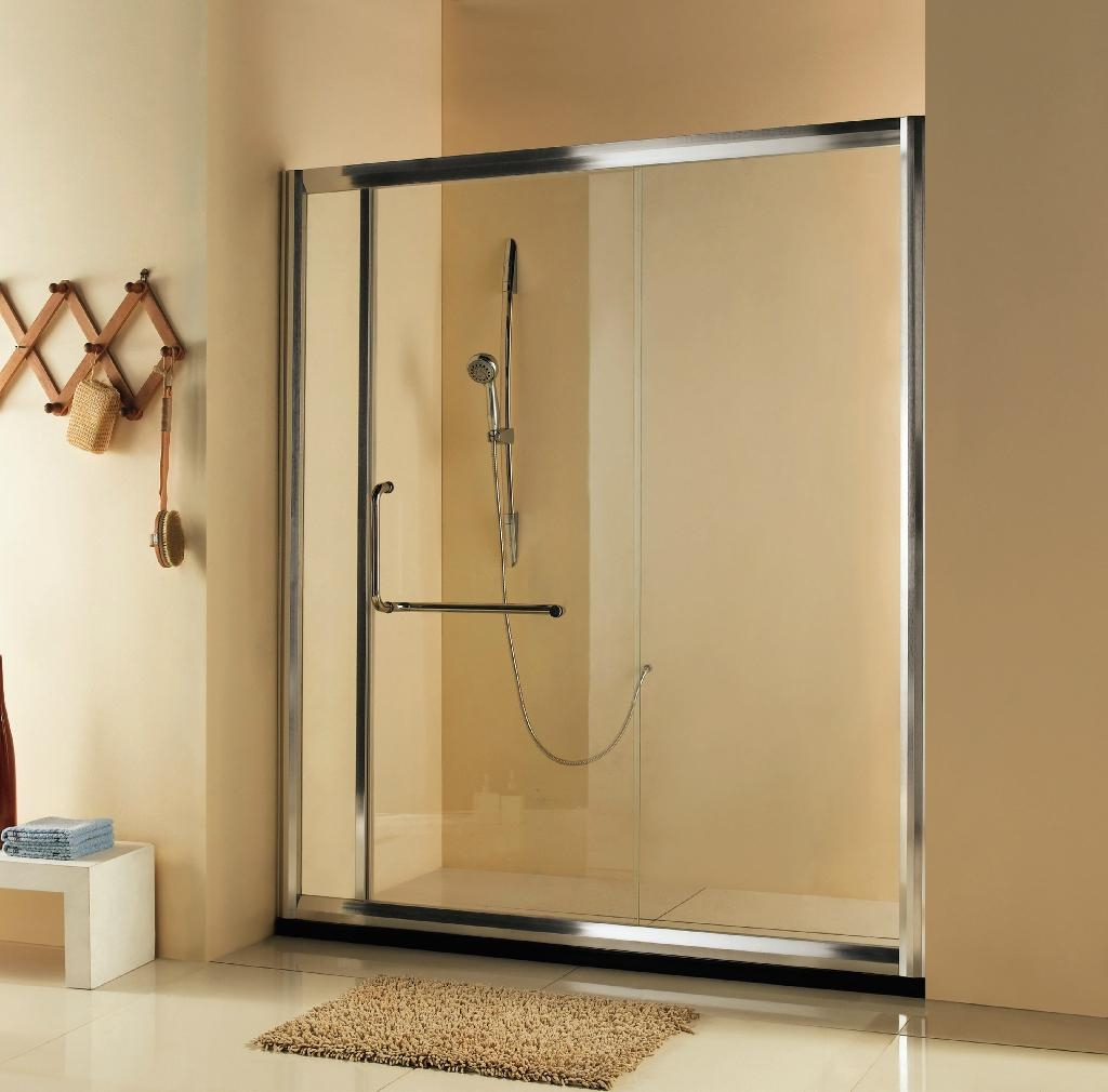 Single sliding shower door with 8mm glass hp3a daneton for Single sliding glass door