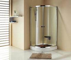 Square double sliding shower enclosure