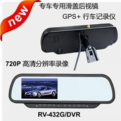 New 4.3 inch rear view monitor with Navigation and 720P DVR