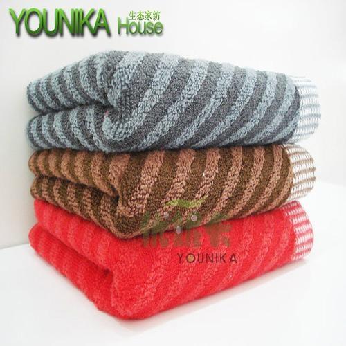 cotton dark solid color strip hotel towel  1