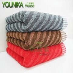cotton dark solid color strip hotel towel