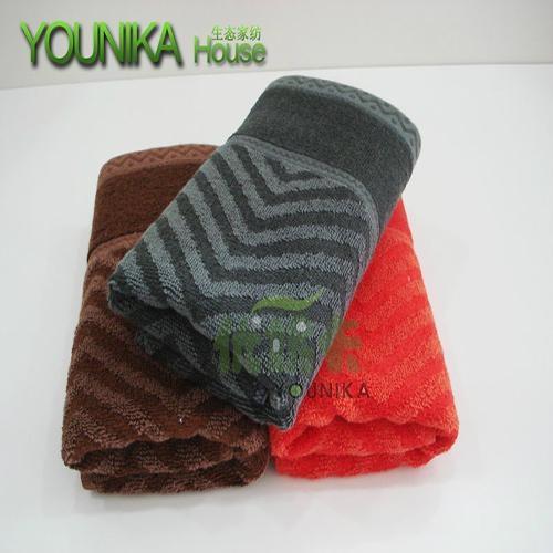 cotton dark solid color strip hotel towel  3