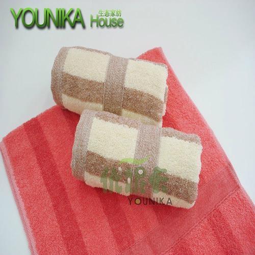 cotton dark solid color strip hotel towel  5