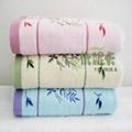 100% cotton jacquard solid color bath towel  3