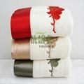 100% cotton jacquard solid color bath towel  4