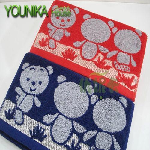 100% cotton reactive printed children towel  2
