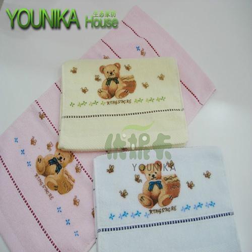 100% cotton reactive printed children towel  3