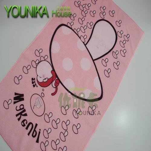 100% cotton reactive printed children towel  5