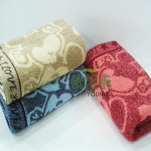 100% cotton AB yarn hand towel  4