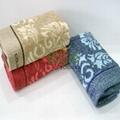 100% cotton AB yarn hand towel  5