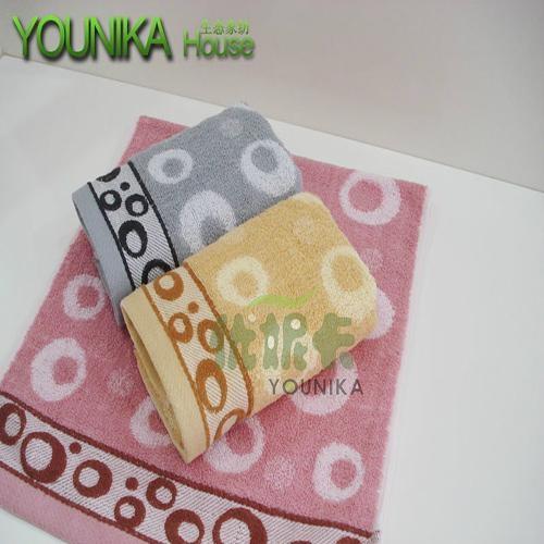 cotton bleach satin-border and jacquard face towel  1