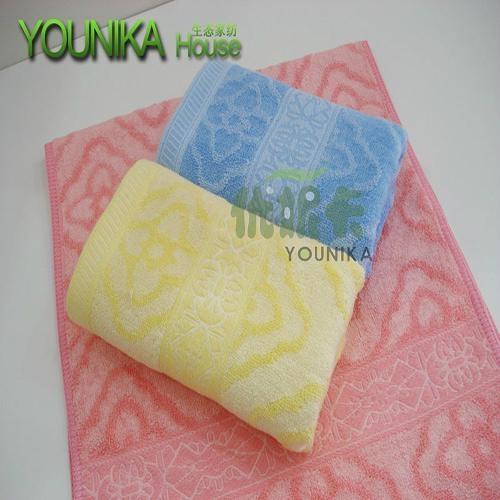 cotton bleach satin-border and jacquard face towel  2