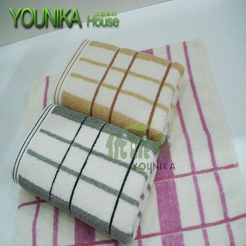 cotton bleach satin-border and jacquard face towel  4