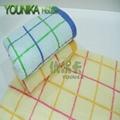 cotton bleach satin-border and jacquard face towel  5