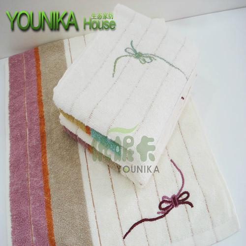 100% cotton plain embroidered gift towel  1