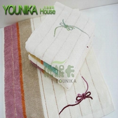 100% cotton plain embroidered gift towel