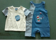 two pcs of Baby garments including baby's t-shirt and baby's romper