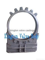 sand casting and machining hydraulic  knife gate valve body