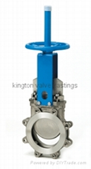 API DIN cast iron Lugged knife gate valve