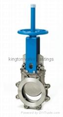 API DIN cast iron Lugged knife gate valve