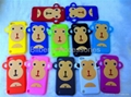 Big monkey face design silicone case for Apple Ipod Touch5