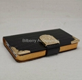 Luxury Lizard Diamond Leather Flip Case / crocodile wallet‏ flip case for 5C
