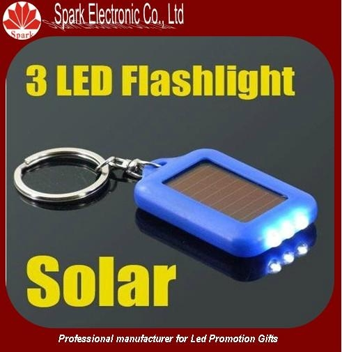 LED flashing solar keychain 1