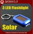 LED flashing solar keychain