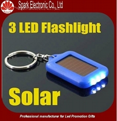 LED flashing solar keychain
