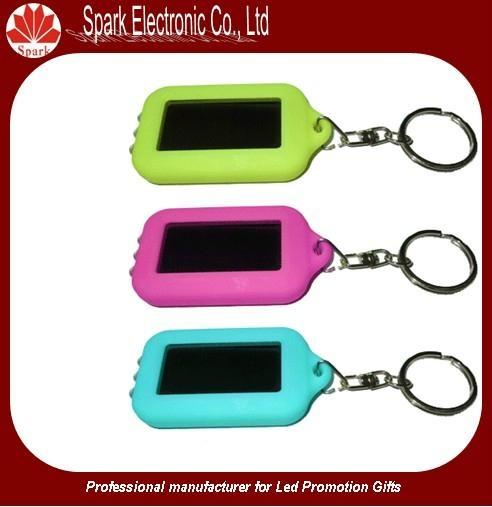 LED flashing solar keychain 2