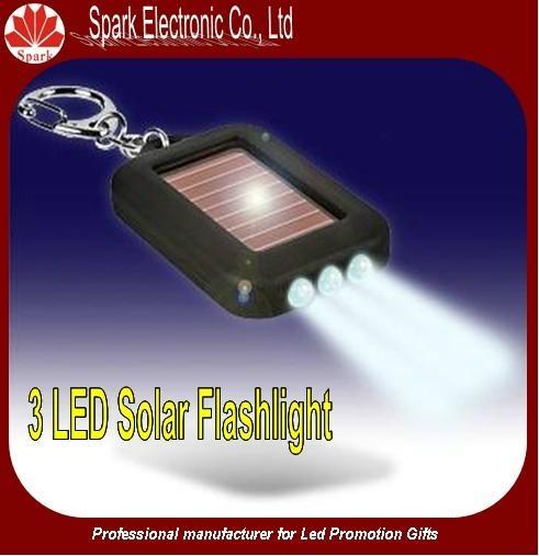 LED flashing solar keychain 4