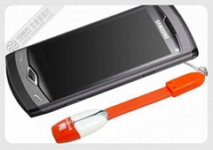 Smart phone data charge cable strap with micro sd card reader