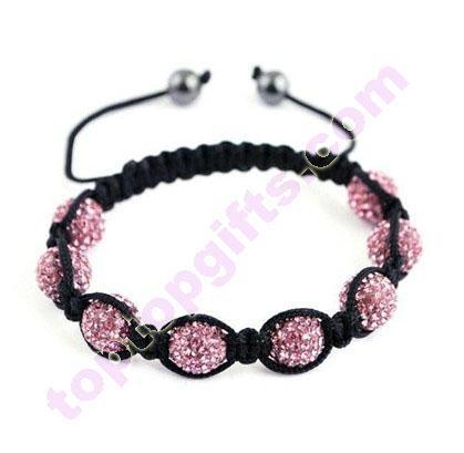 clay rhinestone Shamballa Tresor Paris bracelets 1