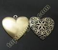 heart loctket pendant brass photo