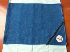 Microfiber waffle sports towel