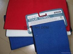 Microfiber waffle golf towel