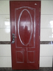 American steel door with pvc covered