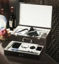 Wine bottle opener and decanter leather box perfect sets