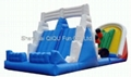 2012 hot sales inflatale slide,water slide,floating slide 5