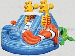 2012 hot sales inflatable dry slides