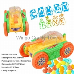 Candy Toys in Tank Style  toy candy