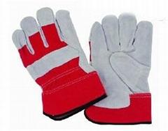 "10"" Cowhide Split Leather Work Gloves"