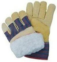 "10.5""Full Boa Lining Pigskin Leather Winter Gloves"