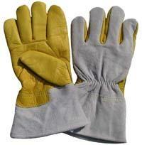 "10.5""Golden Grain Cowhide Leather Work Gloves"