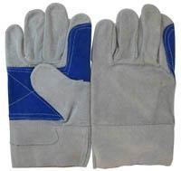 """10.5""""Black Back Split Cowhide Leather Work Gloves"""