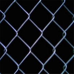 Ga  anized chain link fence