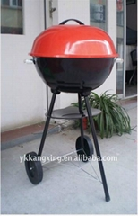 Foldable lidded charcoal BBQ grill