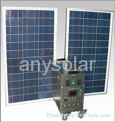 400W portable solar home energy system