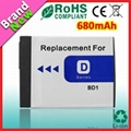 Hot Replacement Camera Battery NP-BD1 for Sony