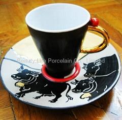Handmade Porcelain Cup and Saucer Souvenir Gifts
